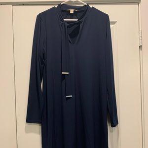 Michael Kors navy long sleeved dress